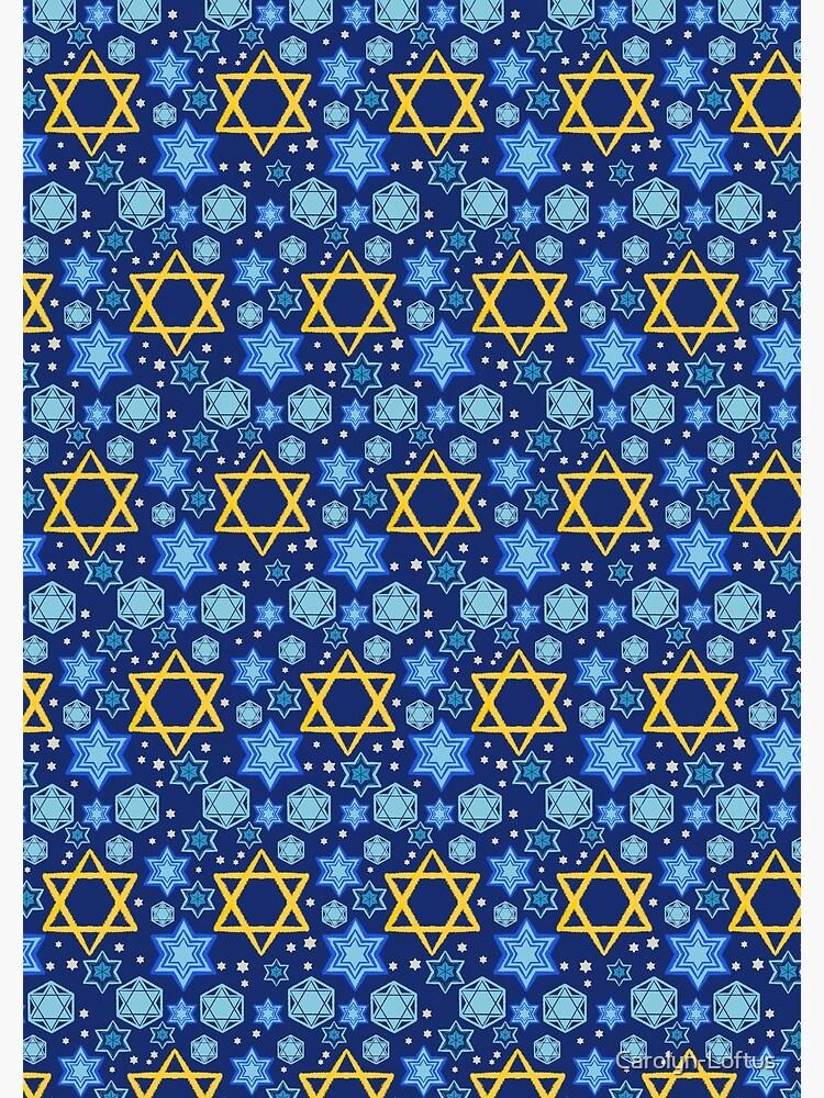 Happy Hanukkah-Star of David by Carolyn-Loftus