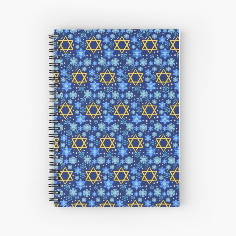 Happy Hanukkah-Star of David Spiral Notebook