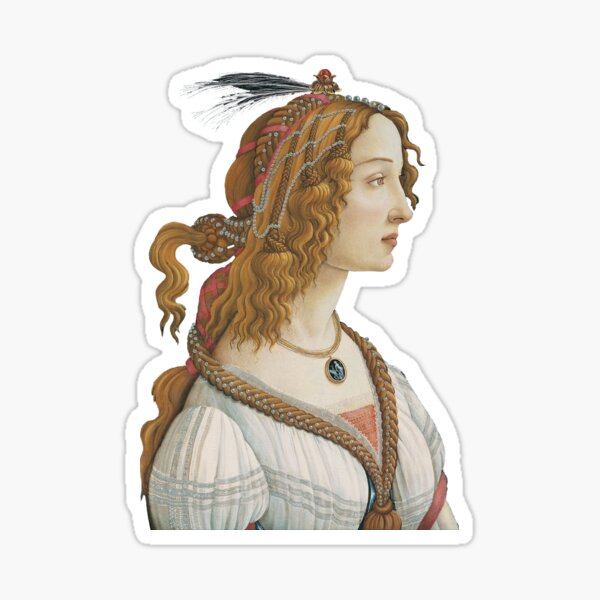 Portrait of a Young Woman- Botticelli Sticker