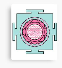 Yantra - cosmic conductor of energy. Yantra Sree . Sacred Geometry Canvas Print