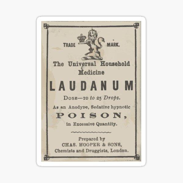 Laudanum Pharmacy Apothecary Victorian Label Sticker