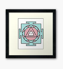 Yantra - cosmic conductor of energy. Yantra Sree . Sacred Geometry Framed Print