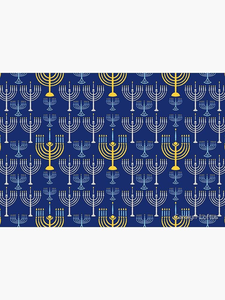 Happy Hanukkah-Menorah by Carolyn-Loftus