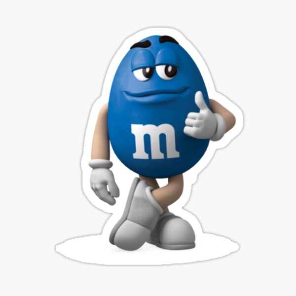 Copy of m&m's blue Sticker