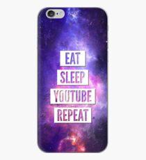 Eat Sleep YouTube Wiederholung iPhone-Hülle & Cover