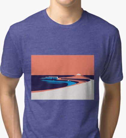 Lyme Regis - The Cobb Tri-blend T-Shirt