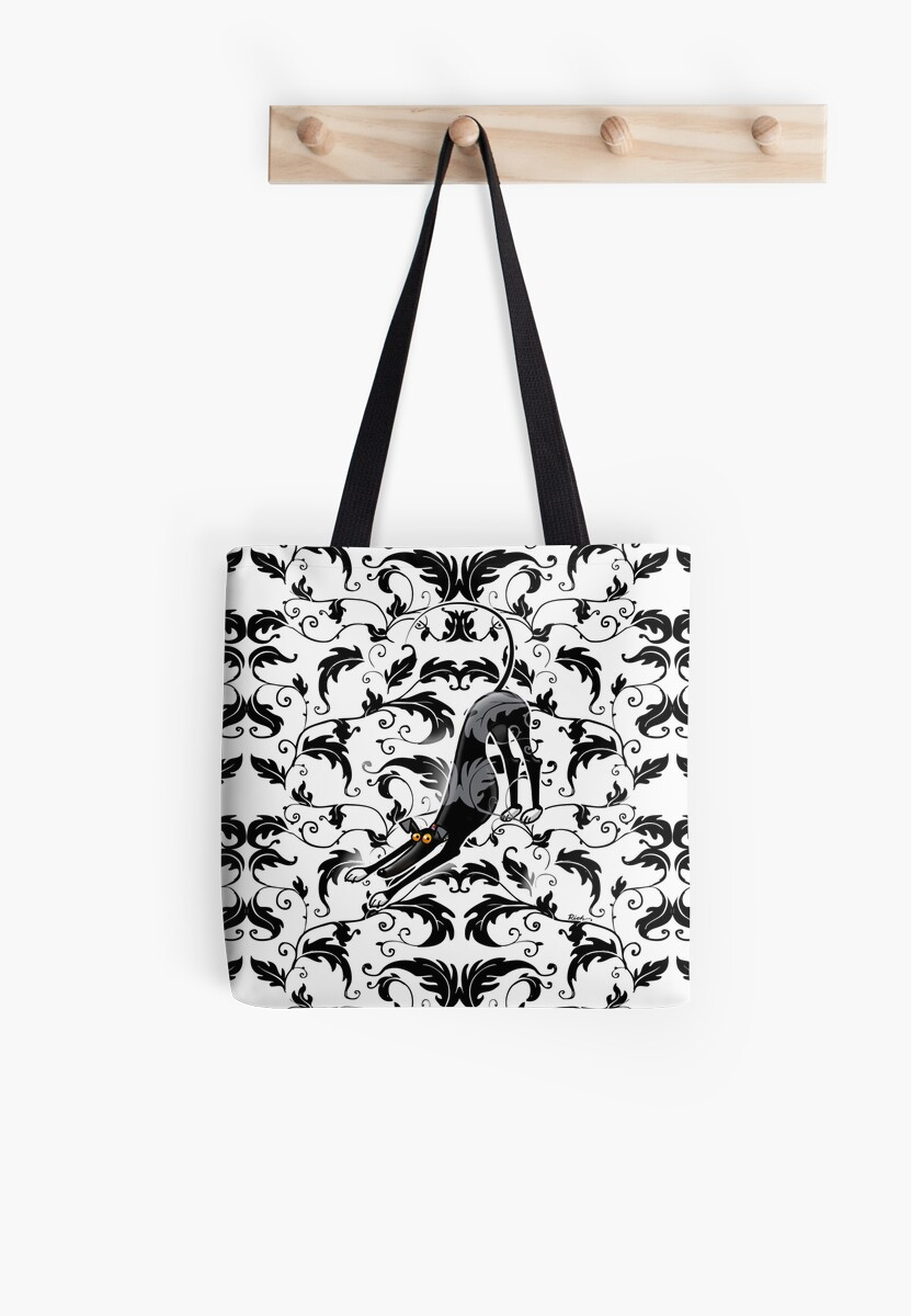 Arts crafts bowdown hound tote bags by richskipworth for Arts and crafts tote bags