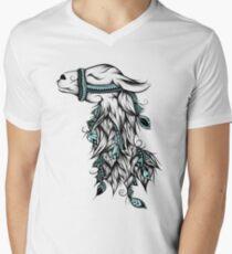 Poetic Llama  Mens V-Neck T-Shirt
