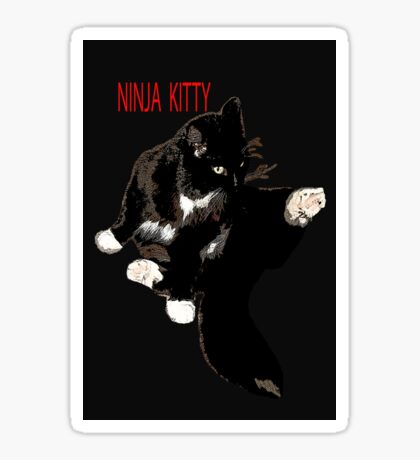 CAT NINJA KITTY Sticker