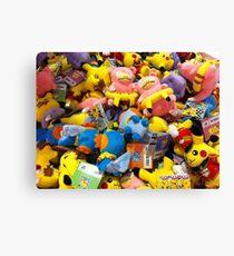 Pokemon plushies  Canvas Print