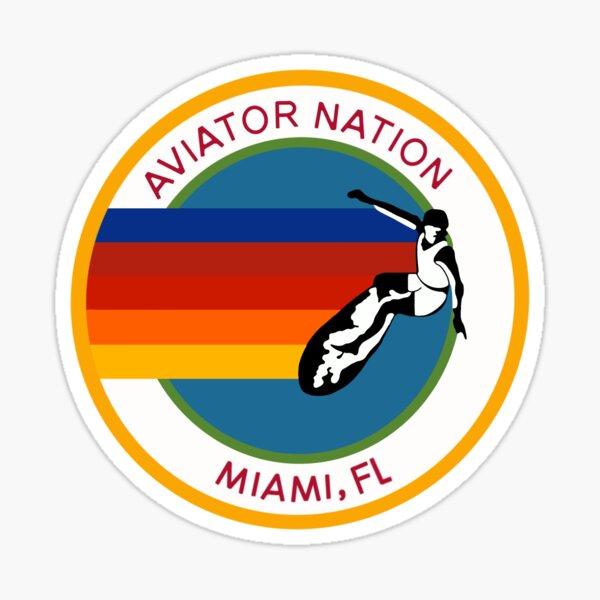 Aviation nation Miami logo Sticker
