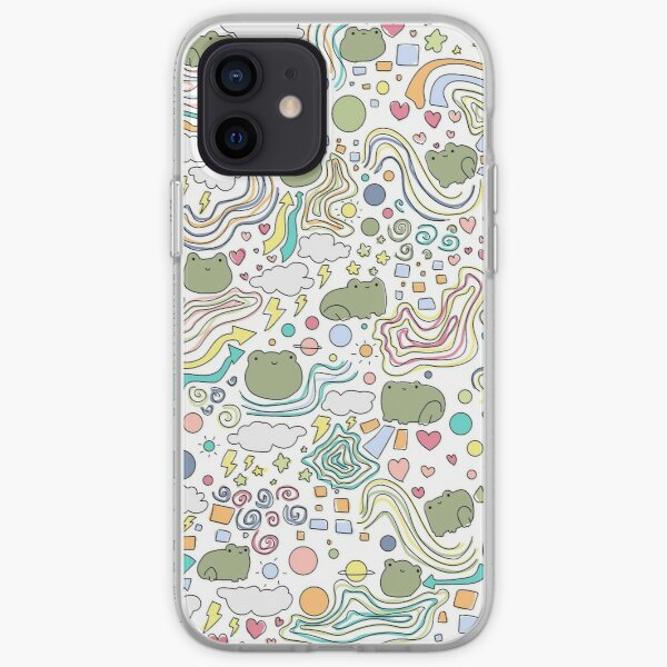 Colored Frog Pattern iPhone Soft Case
