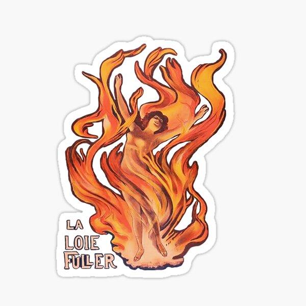 La La Loie Fuller - dancing in flames - Priestess of Fire Sticker
