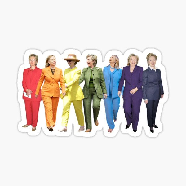 Hillary Clinton Pantsuit Sticker