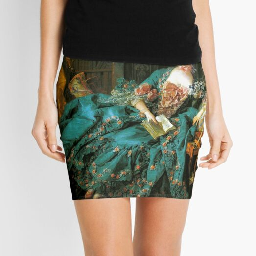 Madame de Pompadour-Francois Boucher Mini Skirt