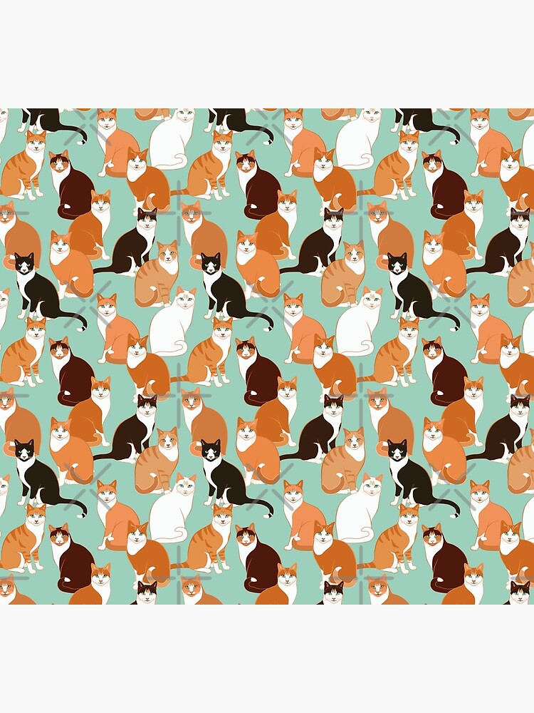Ginger Cats on mint by nadyanadya