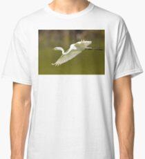 Great White Egret in Flight Classic T-Shirt