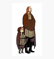 Qui Gon and Padawan Photographic Print