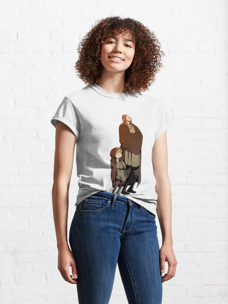 Alternate view of Qui Gon and Padawan Classic T-Shirt