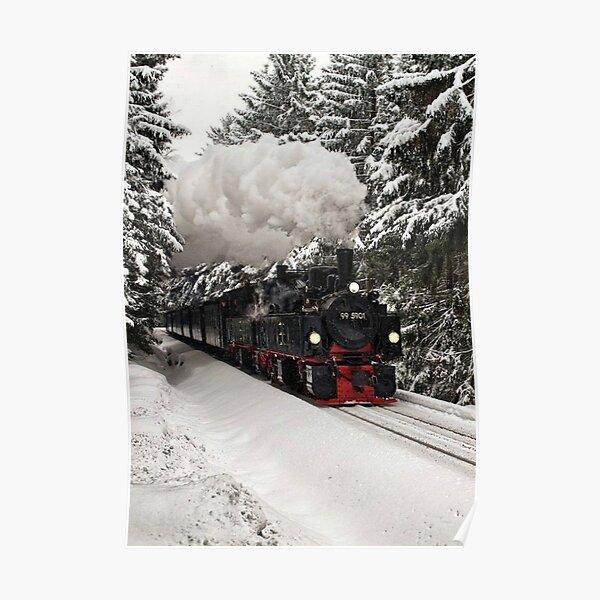 North Pole Locomotive Poster