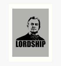 Downton Abbey Lordship Robert Crawley Tshirt Art Print