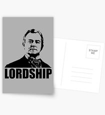 Downton Abbey Lordship Robert Crawley Tshirt Postcards