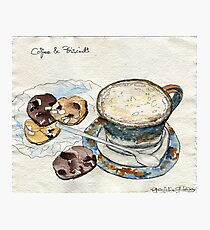 Coffee & Biscuits Photographic Print