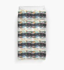 Canal boats at Llangollen Duvet Cover