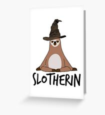 Slotherin Greeting Card