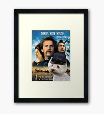 West Highland White Terrier Art - Dances with Wolves Movie Poster Framed Print