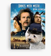 West Highland White Terrier Art - Dances with Wolves Movie Poster Canvas Print