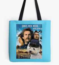 West Highland White Terrier Art - Dances with Wolves Movie Poster Tote Bag