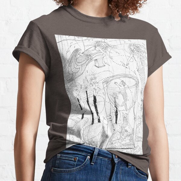 Close-up of a Shelter-in-Place illustration called 'Jessica. we found your shoe' Classic T-Shirt