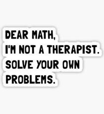 Dear Math Sticker