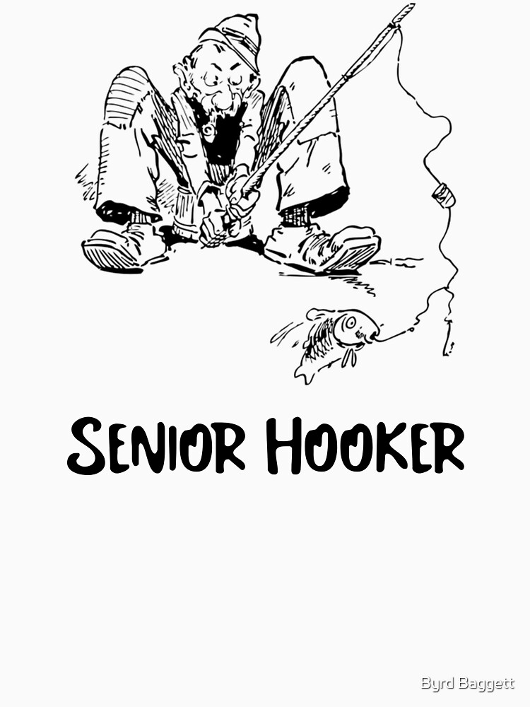 Senior Hooker Fishing Shirt by feather1949