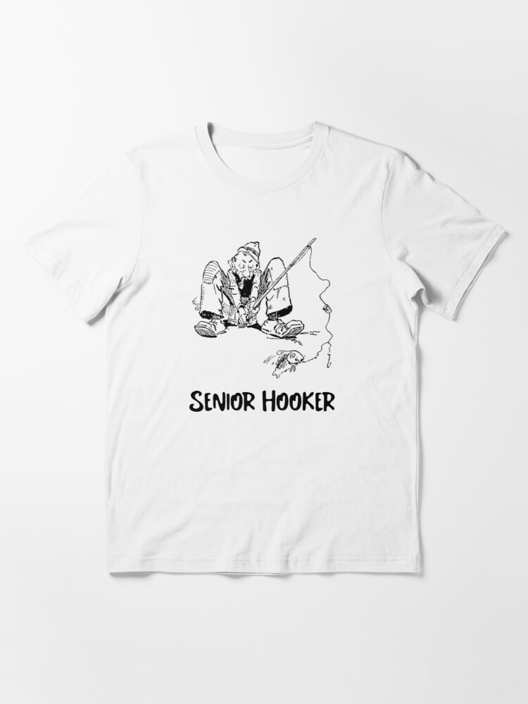 Alternate view of Senior Hooker Fishing Shirt Essential T-Shirt