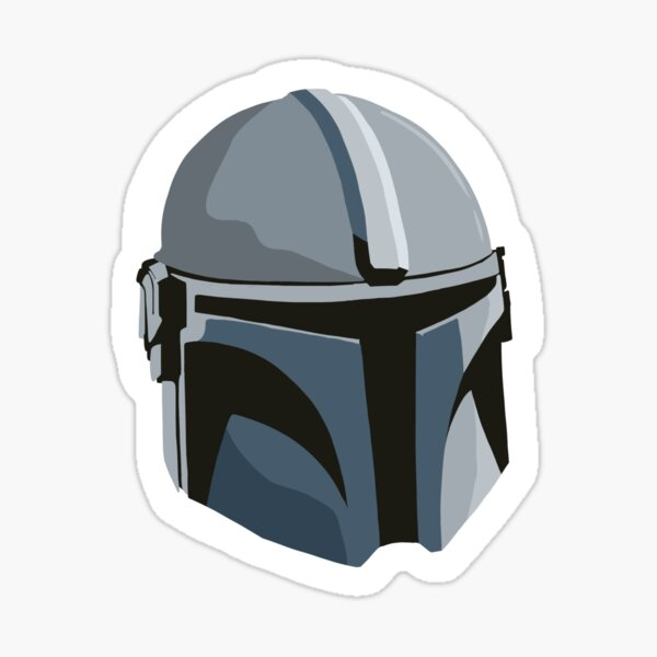 Mando helmet Sticker