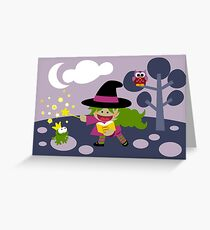 Tiny Witch Greeting Card