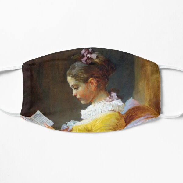 A Young Girl Reading-Jean-Honore Fragonard Flat Mask