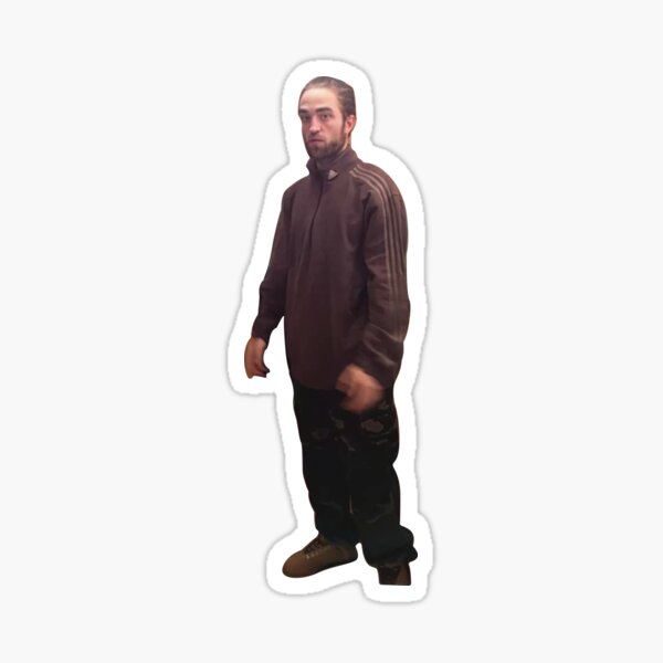 Rob meme with high resolution , standing in kitchen funny meme gift Sticker
