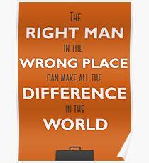 Orange Mann Poster