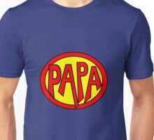 Hero, Heroine, Superhero, Super Papa Unisex T-Shirt