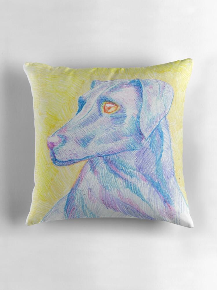 Red Dog Throw Pillows :