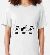 Duathlon Run Bike Run Slim Fit T-Shirt