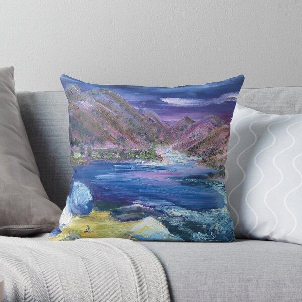 Ruby Creek Sunset - Salmon River, ID Throw Pillow