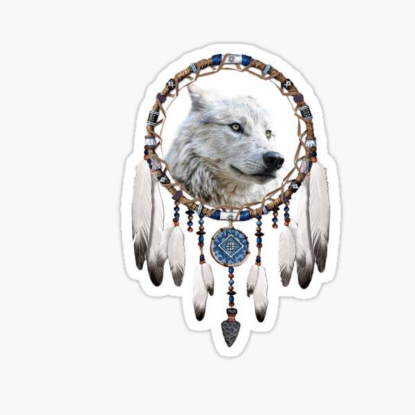 Wolf, Bear and Dream Catcher Sticker