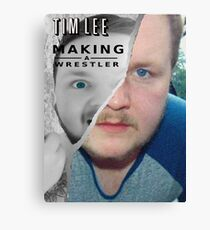 Tim Lee - Making a Wrestler Canvas Print