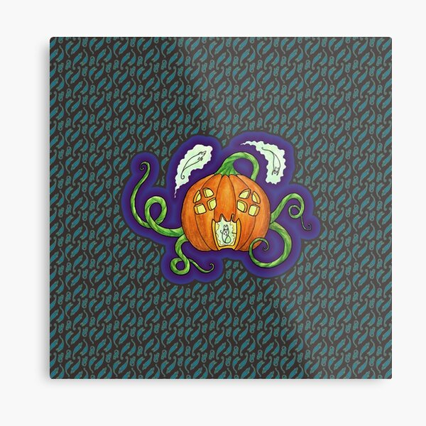 Ghost Mouse Haunted House Metal Print