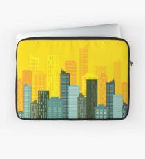 city skyline buildings vector Laptop Sleeve