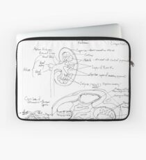 black and white kidney structure Laptop Sleeve